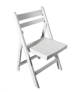 White wooden folding chair - Jollies commercial furniture