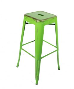 Green vintage style tolix stool - Jollies commercial furniture