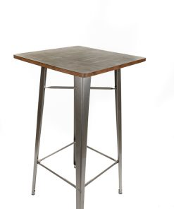 Gunmetal tolix style bar table (Wood top) - Jollies commercial furniture