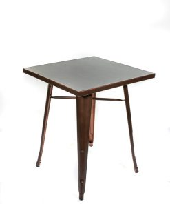 Square tolix style table copper - Jollies commercial furniture