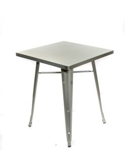 Square tolix style table galvanised - Jollies commercial furniture