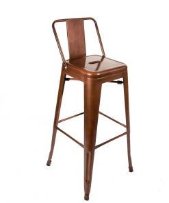 Copper tolix bar stool low back - Jollies Commercial Furniture
