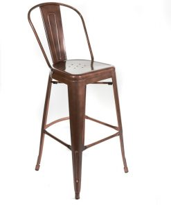 Copper tolix style bar stool - High back - Jollies commercial furniture