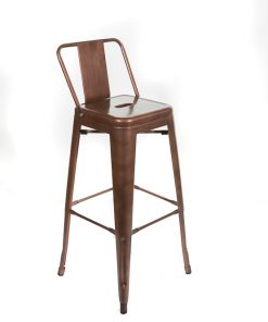 Copper tolix style bar stool - Low back - Jollies commercial furniture