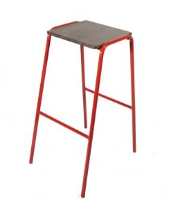 Red Retro Lab stool - Jollies commercial furniture