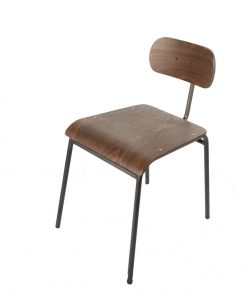 Skinny back chair - gunmetal frame - Jollies commercial furniture